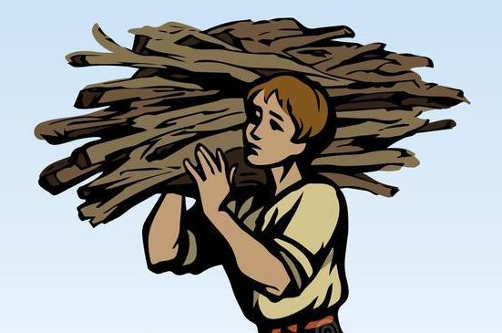 odun toplayan adam